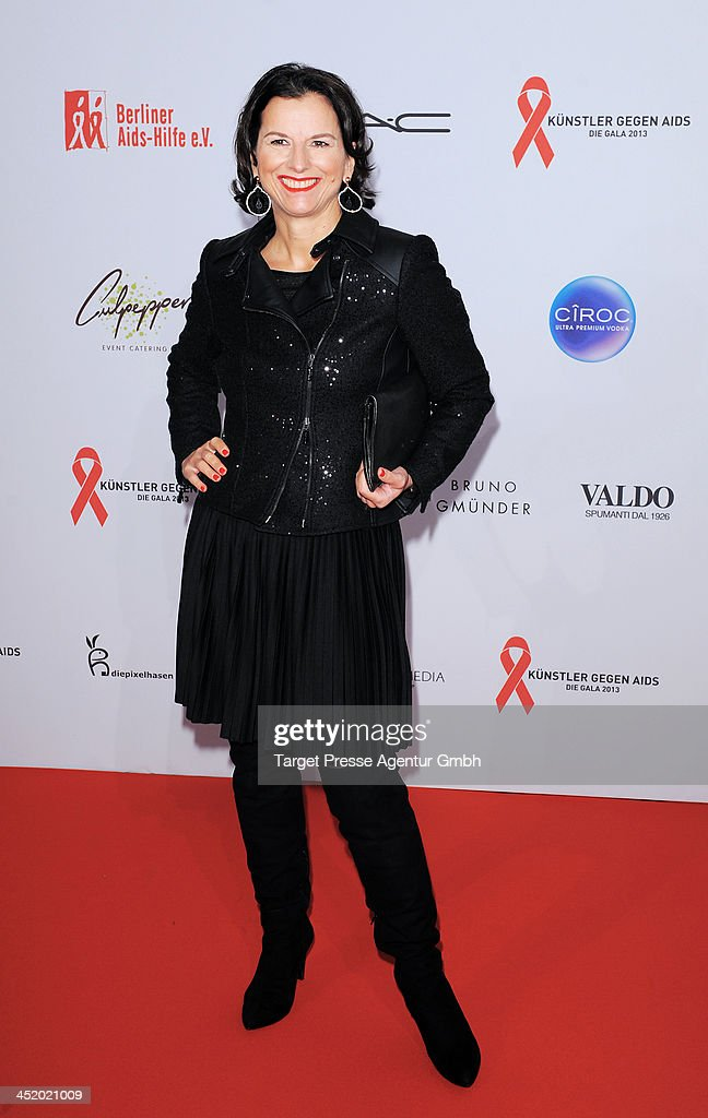 Claudia Obert attends the Artists Against Aids Gala 2013 (Kuenstler gegen Aids Gala 2013) at Stage Theater on November 25, 2013 in Berlin, Germany.