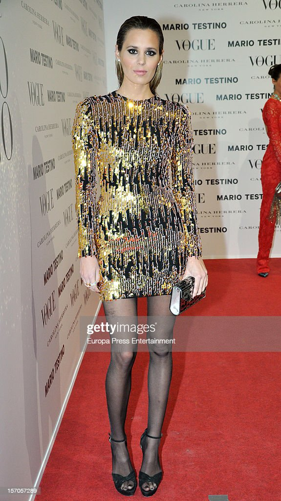 Claudia Ortiz attends Vogue Magazine December issue launch party at Fernan Nunez Palace on November 27, 2012 in Madrid, Spain.
