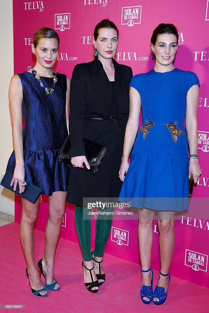 Claudia Ortiz Domecq, Alejandra Osborne and Eugenia Osborne attend 'Beauty T Awards 2013' by Telva at Palace Hotel on January 28, 2013 in Madrid, Spain.