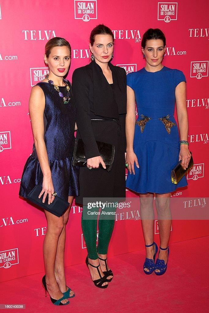 Claudia Osborne, Alejandra Osborne and Eugenia Osborne attend 'Beauty T' awards at the Palace Hotel on January 28, 2013 in Madrid, Spain.