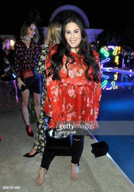 Claudia Oshry at Farfetch and William Vintage Celebrate Gianni Versace Archive hosted by Elizabeth Stewart and William BanksBlaney on October 5 2017...