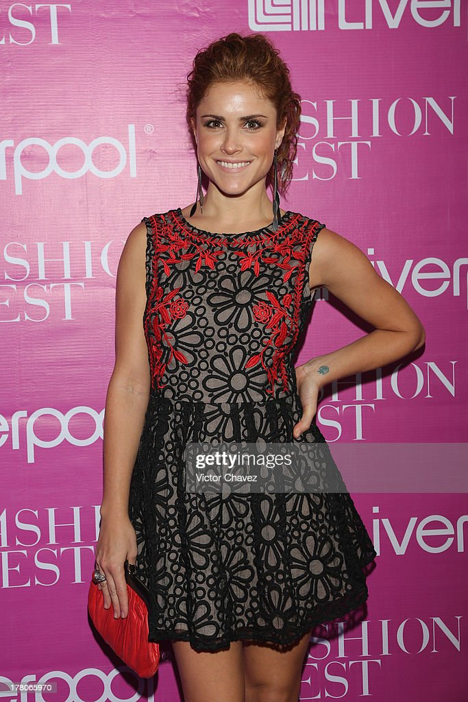 Claudia Palma attends the Liverpool Fashion Fest Autumn/Winter 2013 at Club de Banqueros on August 22, 2013 in Mexico City, Mexico.