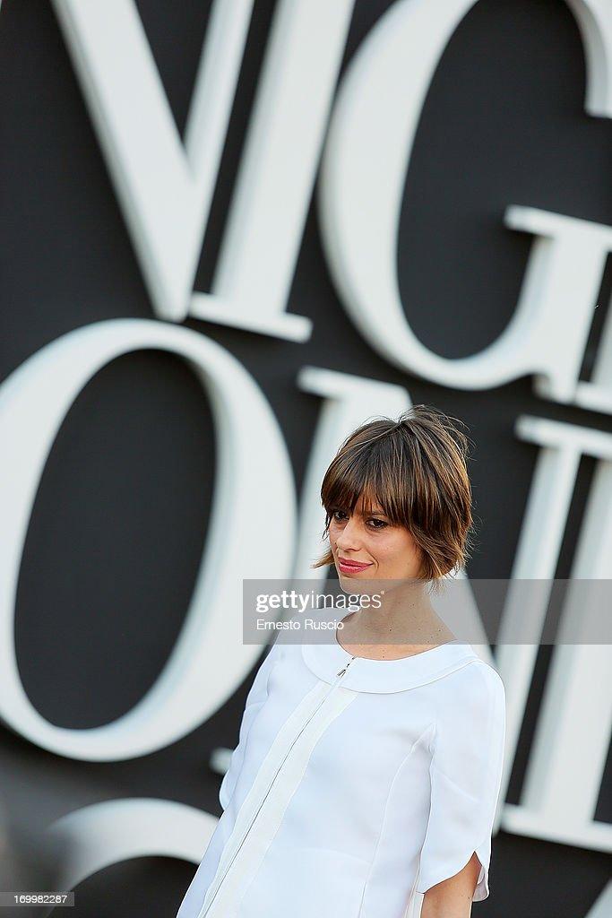 Claudia Pandolfi attends 'One Night Only' hosted by Giorgio Armani at Museo Della Civilta Del Lavoro in Roma on June 5, 2013 in Rome, Italy.