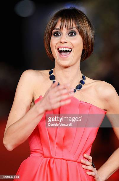 Claudia Pandolfi attends the Festival Opening and 'Waiting For The Sea' Premiere during the 7th Rome Film Festival at the Auditorium Parco Della...