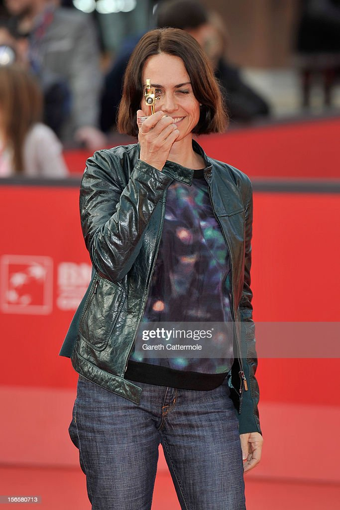 Claudia Pandolfi poses with the Lancia 2012 Elegance In Motion Award as she attends the Collateral Awards Red Carpet photocall during the 7th Rome Film Festival at Auditorium Parco Della Musica on November 17, 2012 in Rome, Italy.