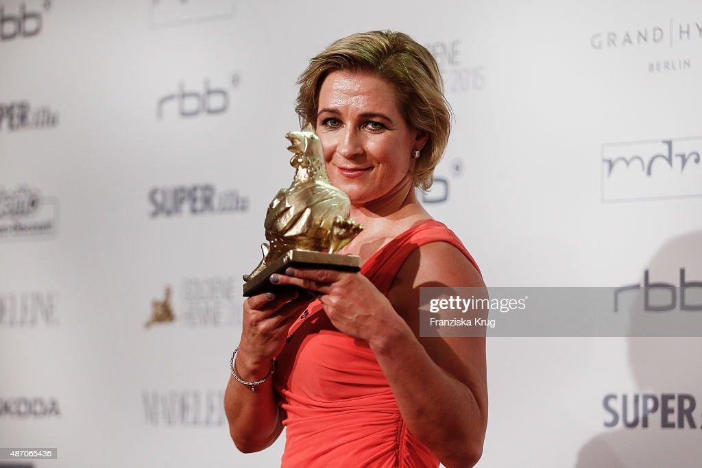 Claudia Pechstein attends Madeleine At Goldene Henne 2015 on September 05 2015 in Berlin Germany