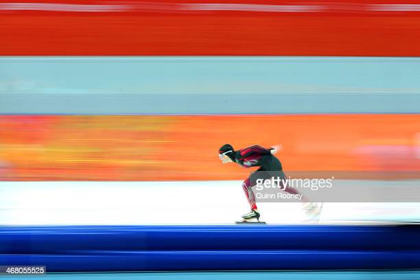 Claudia Pechstein of Germany competes during the Women's 3000m Speed Skating event during day 2 of the Sochi 2014 Winter Olympics at Adler Arena...