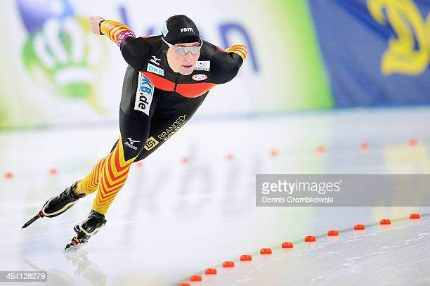 Claudia Pechstein of Germany competes in the Ladies 1500m Division A competition on Day 2 of the Essent ISU World Cup on December 7 2013 in Berlin...