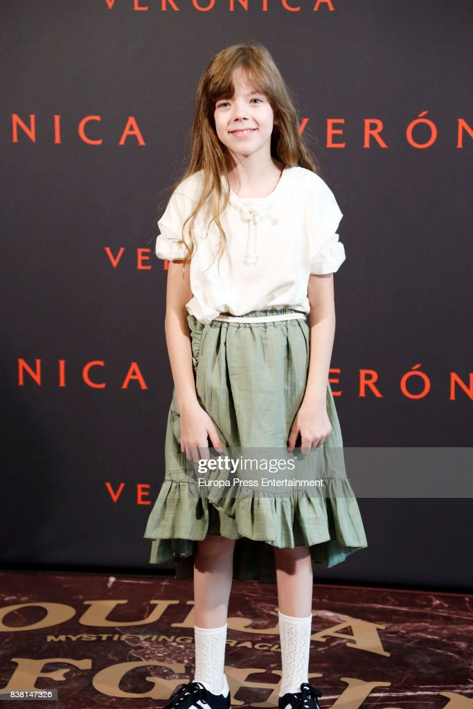 Claudia Placer attends a photocall for the film 'Veronica' at the Sony offices on August 23, 2017 in Madrid, Spain.