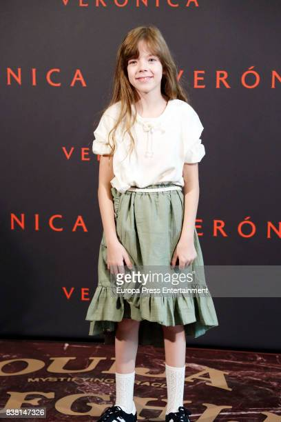 Claudia Placer attends a photocall for the film 'Veronica' at the Sony offices on August 23 2017 in Madrid Spain