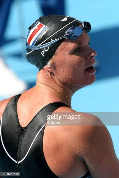 Claudia Poll Ahrens of Coata Rica qulifies from Heat 6 of the Women's 200m Freestyle with a time of 15950 at the Olympic Aquatic Centre in Athens...