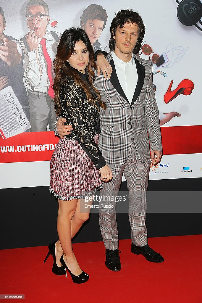 Claudia Potenza and Andrea Boccia attend the 'Outing' premiere at Cinema Adriano on March 25, 2013 in Rome, Italy.