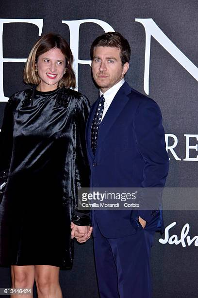 Claudia Ranieri and Alessandro Roja walks the red carpet at 'Inferno' premiere at Opera di Firenze on October 8 2016 in Florence