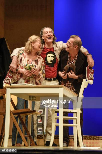 Claudia Rieschel Winfried Glatzeder and Heinrich Schafmeister during the 'Wir sind die Neuen' Rehearsal at Komoedie am Kurfuerstendamm on April 27...