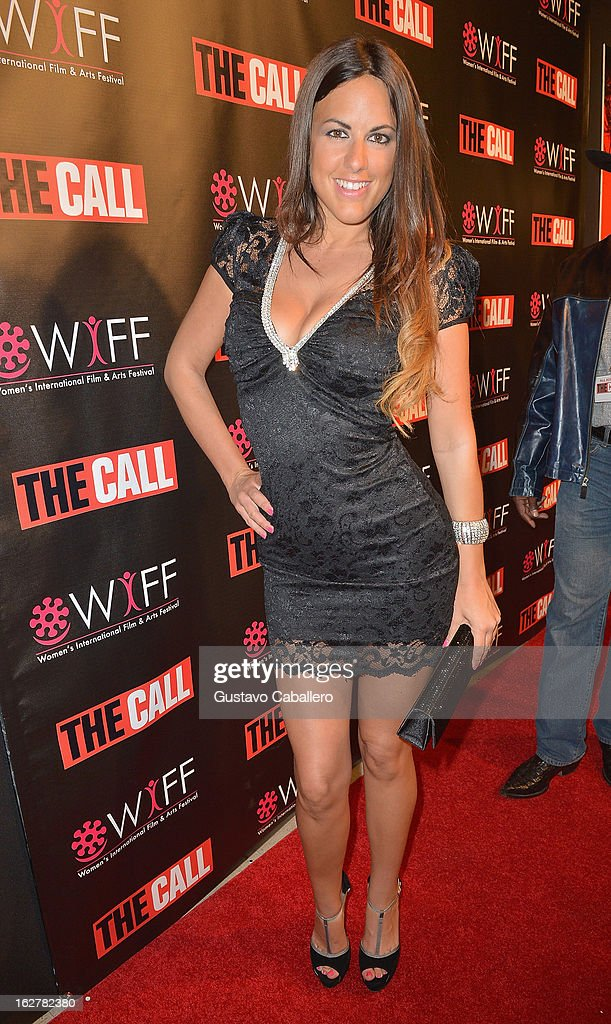 Claudia Romani attends 'The Call' red carpet screening hosted by the Woman's International Film Festival at Regal South Beach on February 26, 2013 in Miami, Florida.