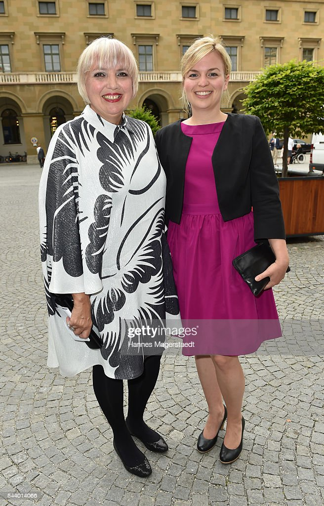 <a gi-track='captionPersonalityLinkClicked' href=/galleries/search?phrase=Claudia+Roth&family=editorial&specificpeople=235978 ng-click='$event.stopPropagation()'>Claudia Roth</a> and Katharina Schulze attend the Bernhard Wicki Award (Friedenspreis des Deutschen Films) during the Munich Film Festival 2016 at Cuvilles Theatre on June 30, 2016 in Munich, Germany.