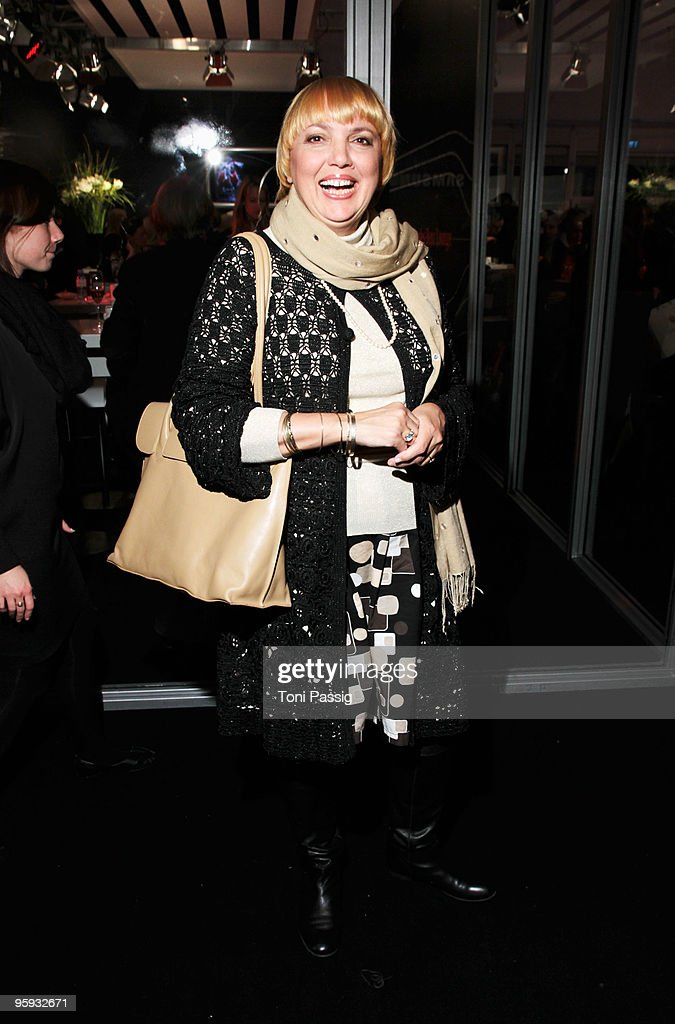 Claudia Roth arrives to the Allude Fashion Show during the MercedesBenz Fashion Week Berlin Autumn/Winter 2010 at the Bebelplatz on January 21 2010...