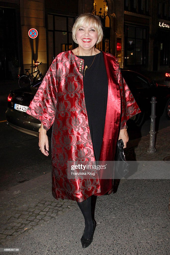 Claudia Roth attends the Deutscher Hoerfilmpreis 2015 on March 17 2015 in Berlin Germany