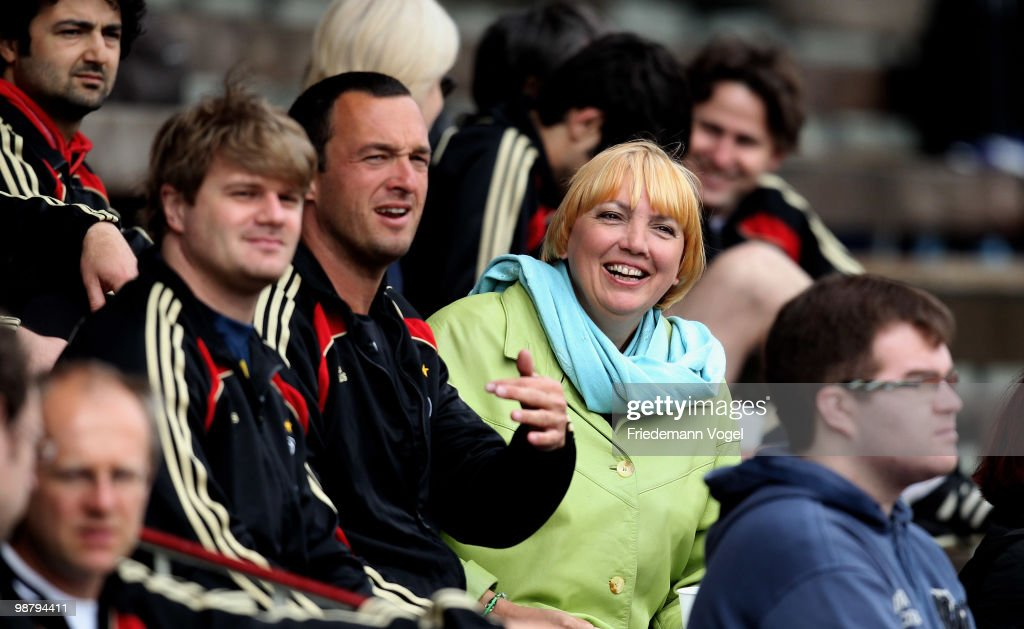 Claudia Roth attends the Writers League match between Sweden and Italy at stadium Rote Erde on May 2 2010 in Dortmund Germany