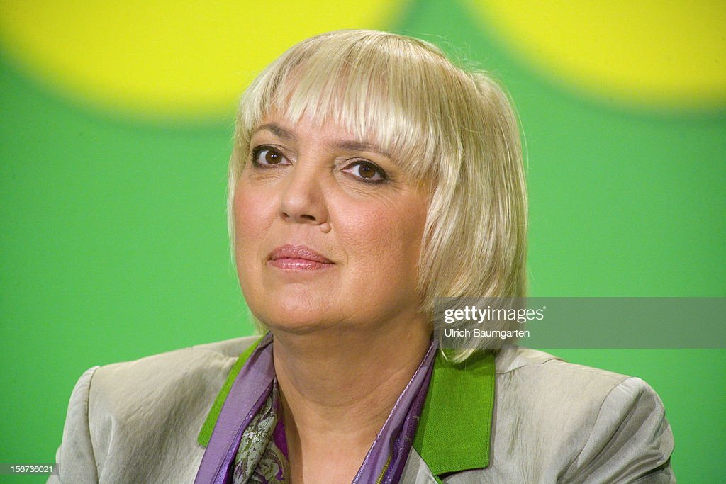 Claudia Roth chairwoman of German Greens Party during the Greens Party federal convention at Hannover Congress Centrum on November 17 2012 in Hanover...