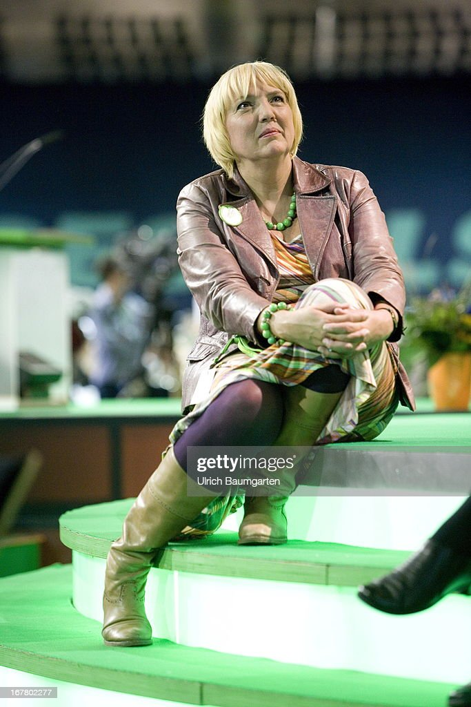 Claudia Roth Chairwoman of the green political party Alliance '90/The Greens during the German Greens Party party congress on April 26 2013 in Berlin...