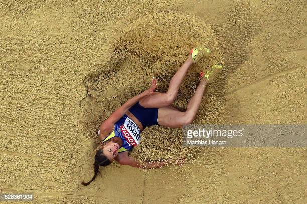 Claudia SalmanRath of Germany competes in the Women's Long Jump qualification during day six of the 16th IAAF World Athletics Championships London...