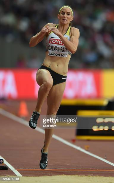 Claudia SalmanRath of Germany jumps in the long jump final in London at the 2017 IAAF World Championships athletics at the London Stadium in London...
