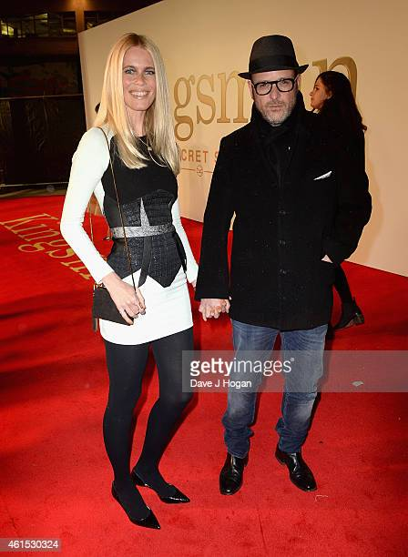 Claudia Schiffer and director Matthew Vaughn attend the World Premiere of 'Kingsman The Secret Service' at the Odeon Leicester Square on January 14...