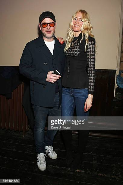 Claudia Schiffer and Matthew Vaughn attend Gary Barlow's live showcase of 'Fly' an album of songs inspired by the new film 'Eddie the Eagle' at One...