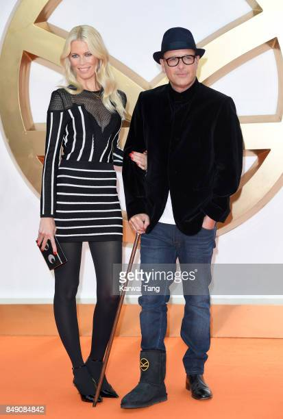 Claudia Schiffer and Matthew Vaughn attend the 'Kingsman The Golden Circle' World Premiere at Odeon Leicester Square on September 18 2017 in London...