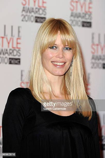 Claudia Schiffer arrives at The ELLE Style Awards 2010 at the Grand Connaught Rooms on February 22 2010 in London England