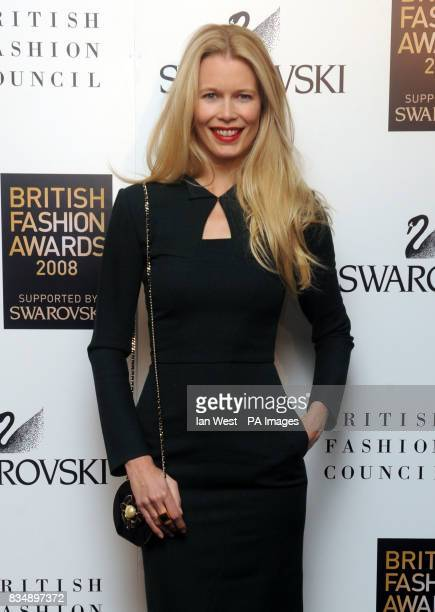 Claudia Schiffer arrives for the 2008 British Fashion Awards at the Royal Horticultural Hall 80 Vincent Square London
