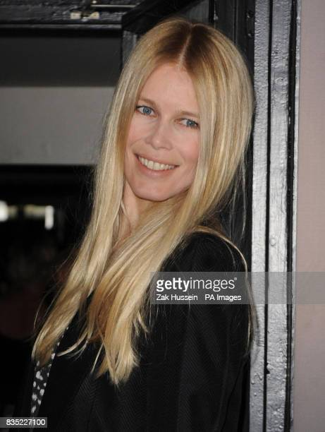 Claudia Schiffer arrives for the Fashion Fringe 2009 launch party at Tini in south west London
