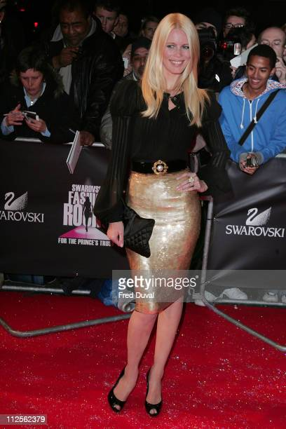 Claudia Schiffer arriving at the Swarovski Fashion Rocks on October 18 2007 in London England