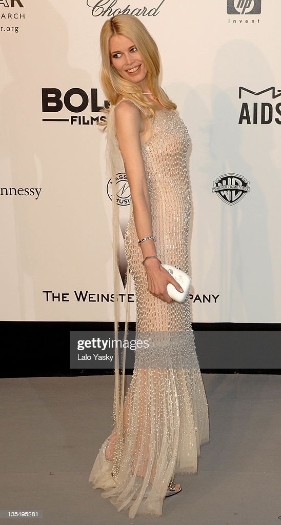 Claudia Schiffer at amfAR's Cinema Against AIDS event, presented by Bold Films, the M•A•C AIDS Fund and The Weinstein Company to benefit amfAR