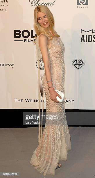Claudia Schiffer at amfAR's Cinema Against AIDS event presented by Bold Films the M•A•C AIDS Fund and The Weinstein Company to benefit amfAR