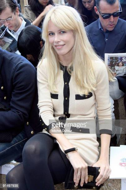 Claudia Schiffer attends Chanel Pret a Porter show as part of Paris Womenswear Fashion Week Spring/Summer 2010 at Grand Palais on October 6 2009 in...
