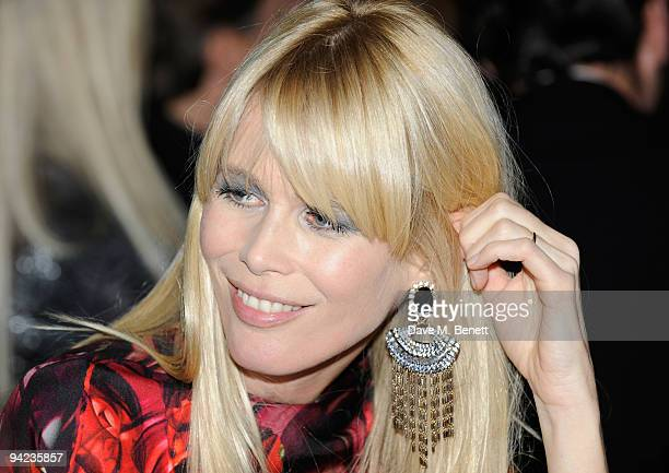 Claudia Schiffer attends the British Fashion Awards at the Royal Courts of Justice Strand on December 9 2009 in London England