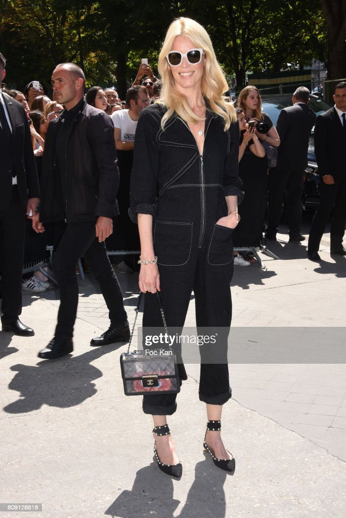Claudia Schiffer attends the Chanel Haute Couture Fall/Winter 2017-2018 show as part of Paris Fashion Week on July 4, 2017 in Paris, France.