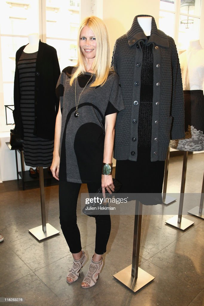 Claudia Schiffer attends the cocktail for the launch of her cashmere collection at Colette on July 5, 2011 in Paris, France.
