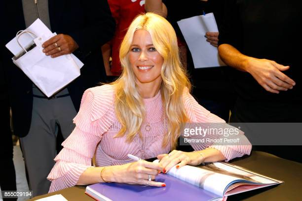 Claudia Schiffer attends the 'Kingsman The Golden Circle Kingsmann Le Cercle d'Or' Book Signing at Colette on September 28 2017 in Paris France