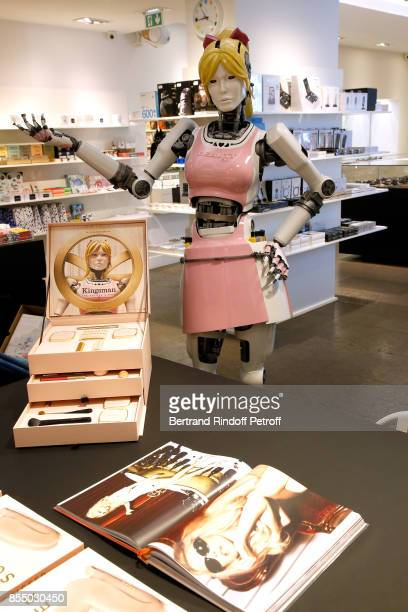 Claudia Schiffer attends the 'Kingsman The Golden Circle Kingsmann Le Cercle d'Or' Book Signing and its Cosmetics Line at Colette on September 28...