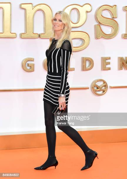 Claudia Schiffer attends the 'Kingsman The Golden Circle' World Premiere at Odeon Leicester Square on September 18 2017 in London England