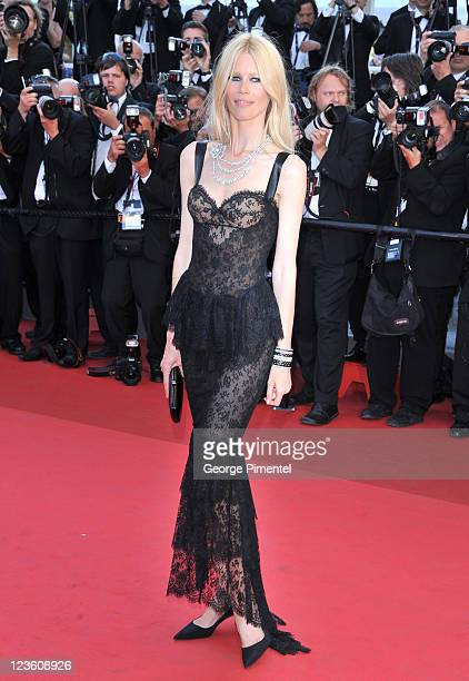 Claudia Schiffer attends the 'This Must Be The Place' Premiere during the 64th Cannes Film Festival at the Palais des Festivals on May 20 2011 in...
