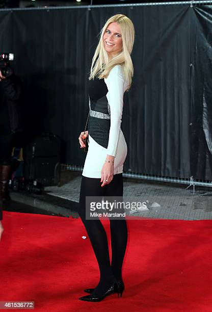 Claudia Schiffer attends the World Premiere of 'Kingsman The Secret Service' at Odeon Leicester Square on January 14 2015 in London England