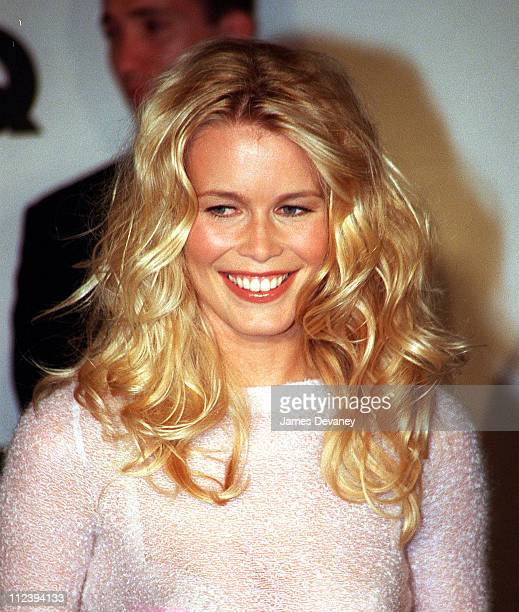 Claudia Schiffer during 1999 GQ Men of the Year Awards at Beacon Theatre in New York City New York United States