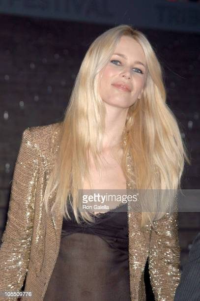 Claudia Schiffer during 4th Annual Tribeca Film Festival Vanity Fair Party at The State Supreme Courthouse in New York City New York United States