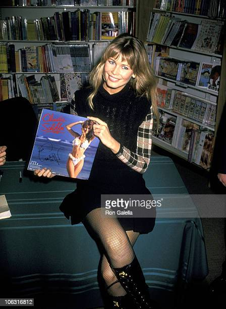 Claudia Schiffer during Claudia Schiffer In Store Appearance to Promote 1994 Swimsuit Calendar at Walden Books in New York City New York United States