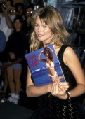 Claudia Schiffer during Claudia Schiffer In Store Appearance to Promote 1994 Swimsuit Calendar at Bookstar in Santa Monica California United States