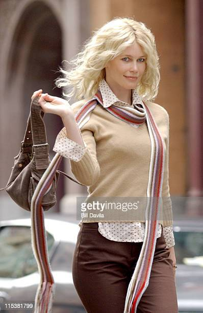Claudia Schiffer during Claudia Schiffer Models For Gap Fall Collection TV Commercial at Soho New York in New York NY United States